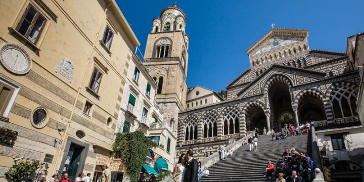 A wedding in Il Duomo (Cathedral) Amalfi, Italy