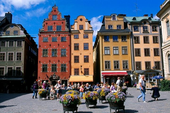 Historic centre of Stortorget, Gamla Stan, Stockholm, Sweden, Scandinavia
