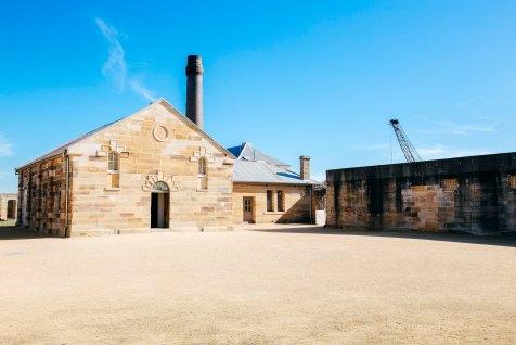 Convict Courtyard, Convict Precinct, Cockatoo Island. Credit - Zakarij Kacmarek